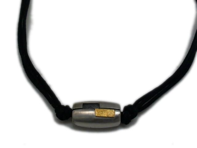 Collar de plata y oro