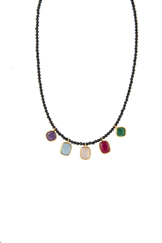 Collar espinela charms ágata plata ON27 PATRICIA ARLÀ