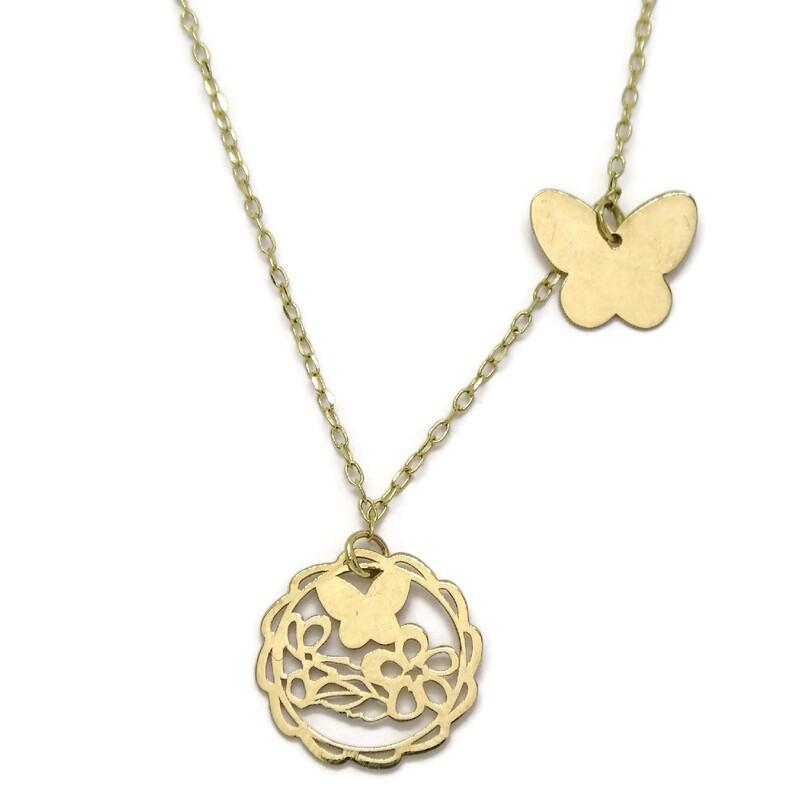 c8dc56c23956 Collar mariposa oro amarillo de 18Ktes. Colección enamorados. Never say  never. Cargando zoom
