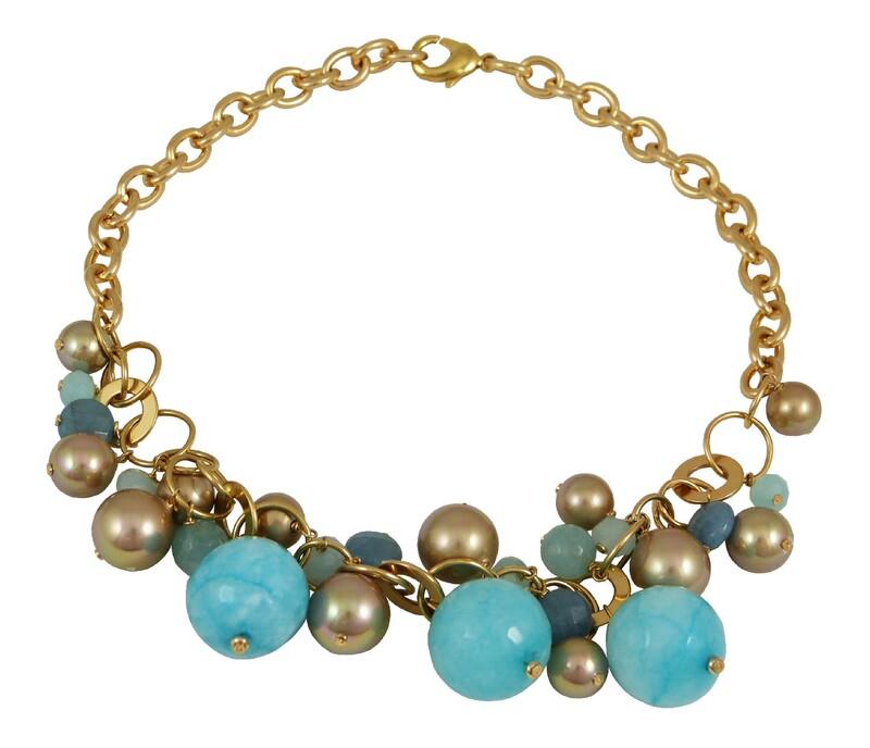 Collar Mujer DEVOTA Y LOMBACDL193825-BLUE/GOLD 8435334800545 Devota & Lomba