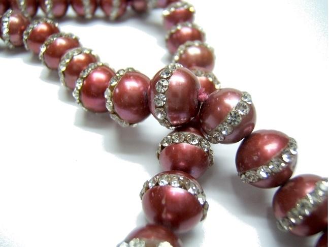 Collar perlas cultivadas y piedras cristal