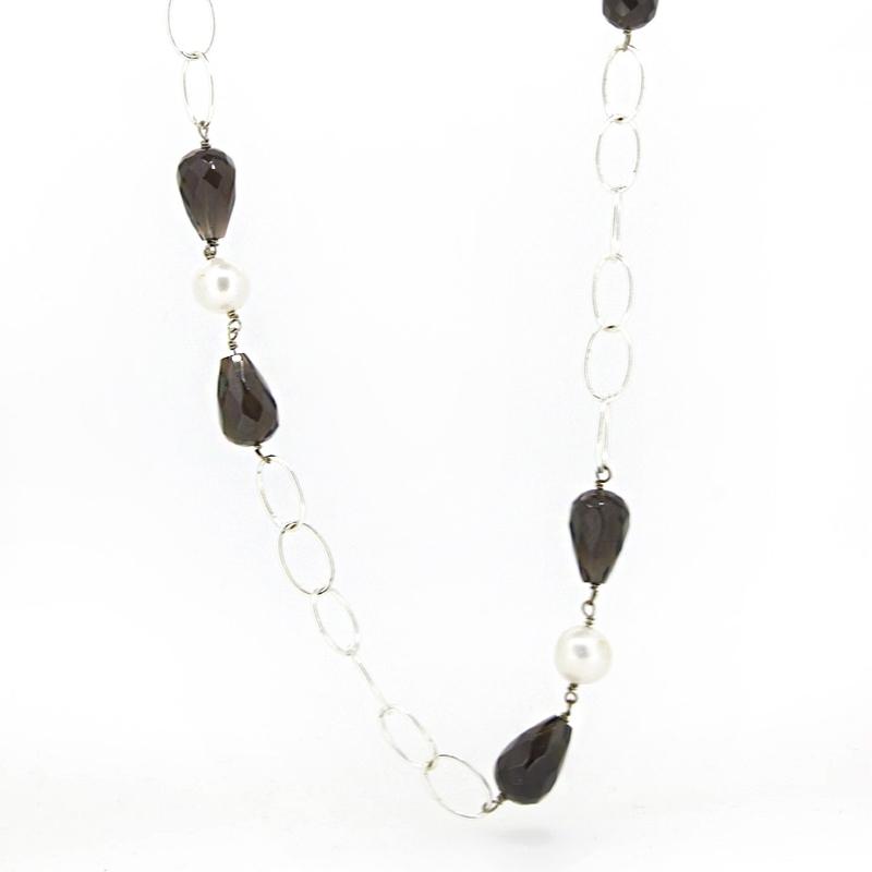 Collar plata y piedras naturales 15SR-3 Stradda
