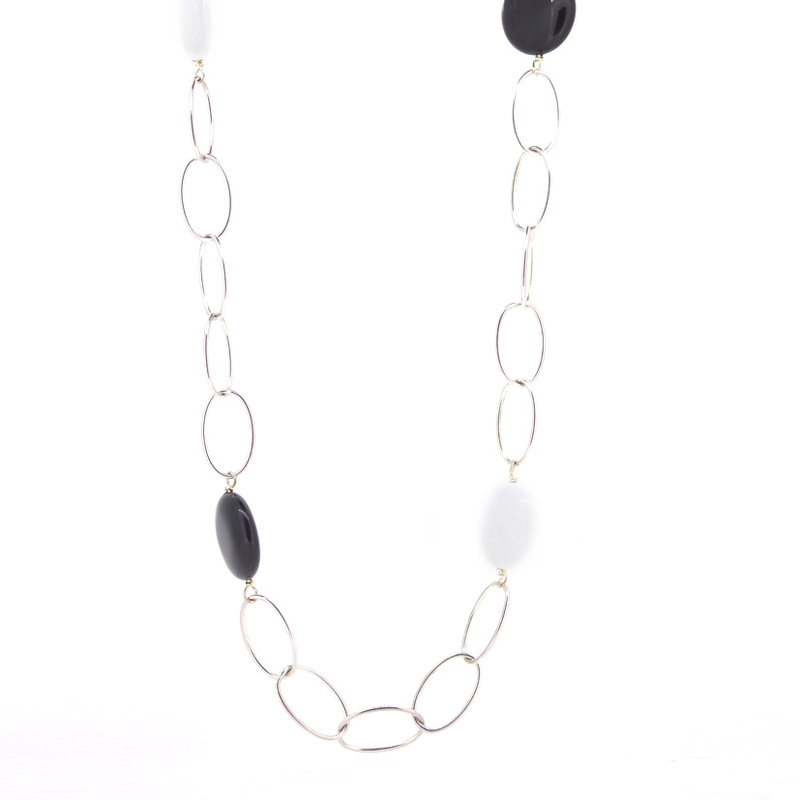 Collar Stradda plata y piedras naturales  15H20