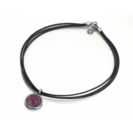 Collar Viceroy cuero y murano 1004C19017