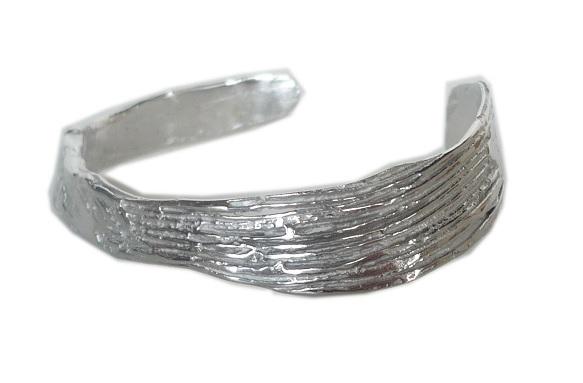 Brazalete en plata abierto e amoldable, contorno 15 cm FP P11-P Fili Plaza