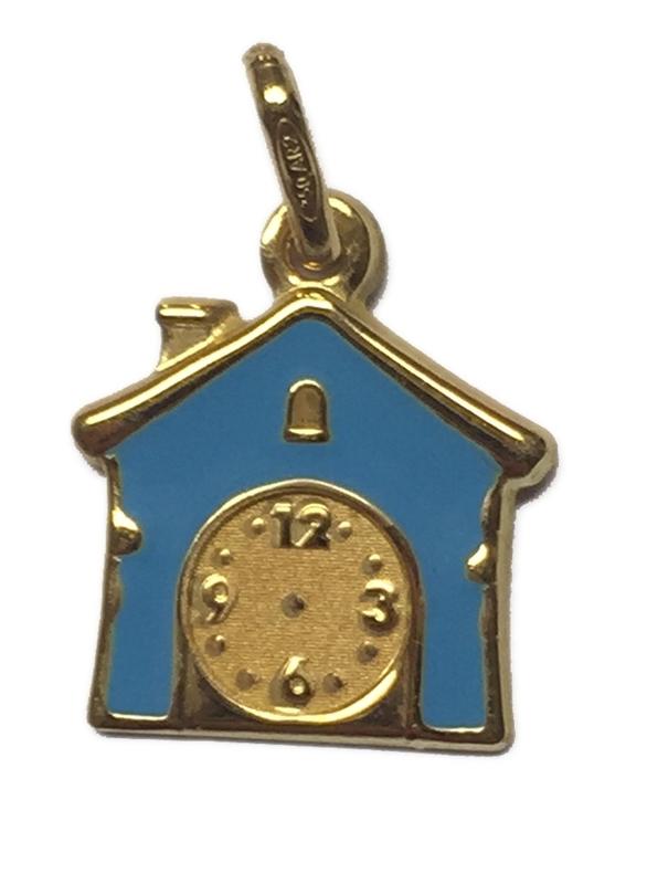 Medalla oro casita azul