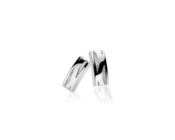 Pendientes Plata y Diamante Zinzi ZDO34