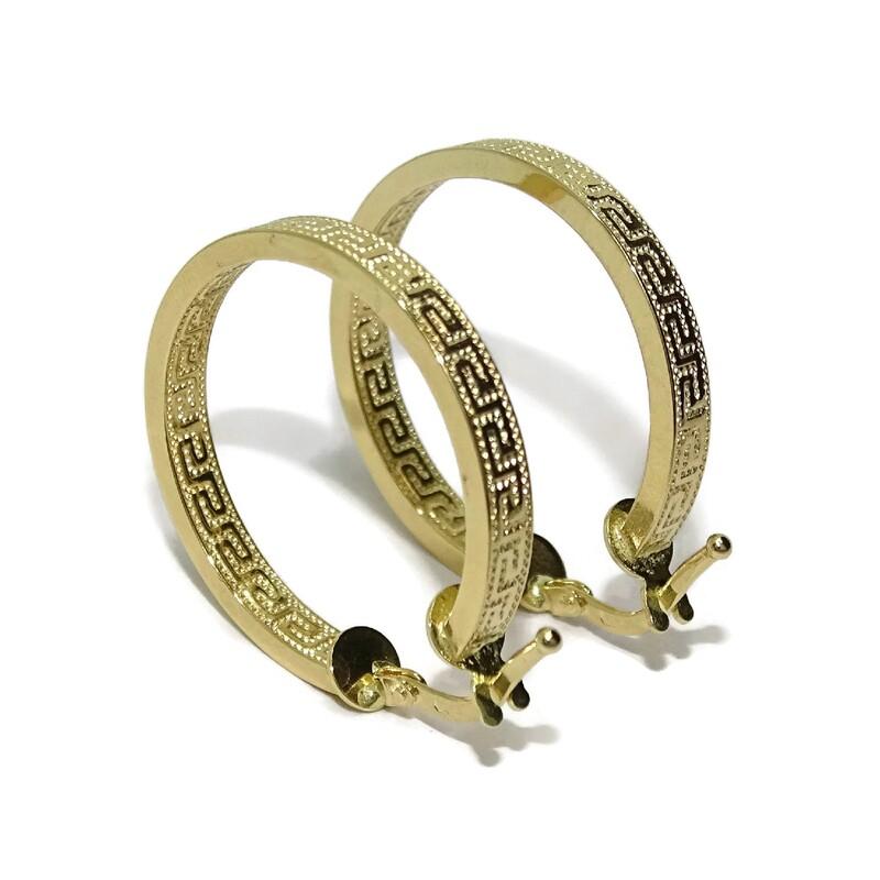 Pendientes Aros de oro amarillo de 18Ktes de 3.5mm de ancho y 2.2cm de diametro exterior Never say never