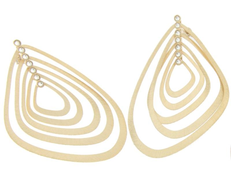 Pendientes de plata dorada con piedras