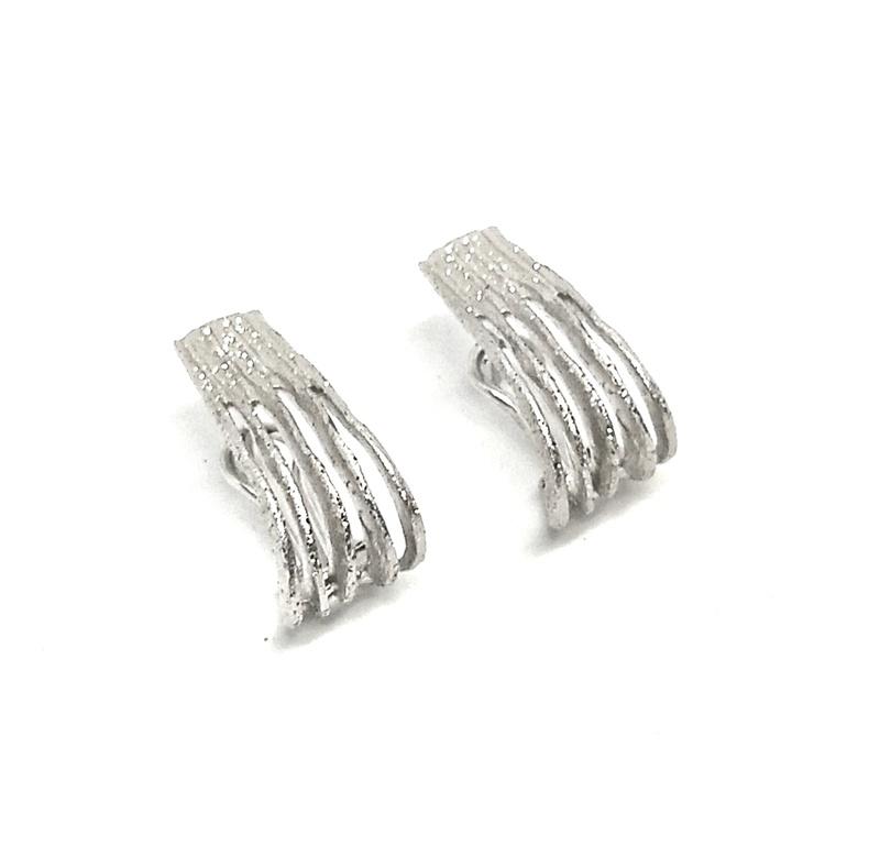 Pendientes Plata ArgentBasic rodiados diamantados  ARRM022 Argent Basic