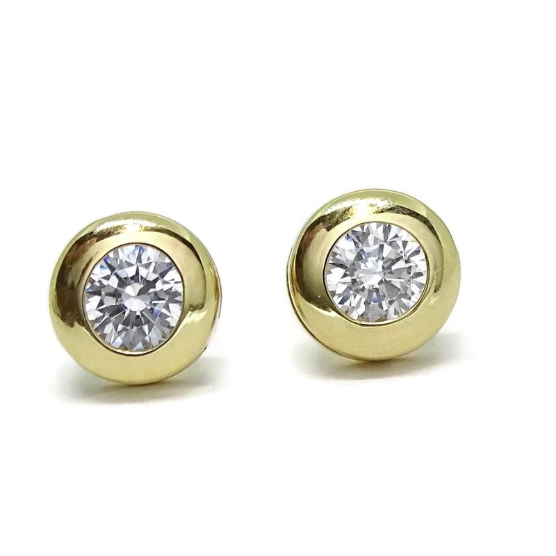 Pendientes de oro de 18ktes de 6.5mm y circonita. Never say never