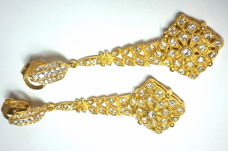 Pendientes pendiente de plata chapada - Propia - 02-925