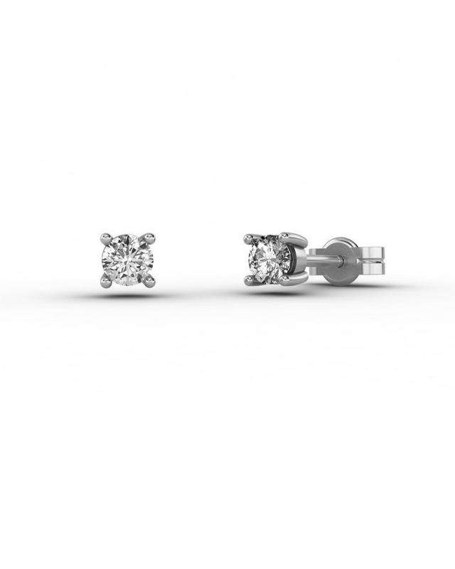 Pendientes en Oro 18 Kt con Diamantes de 0,20 quilates Cresber