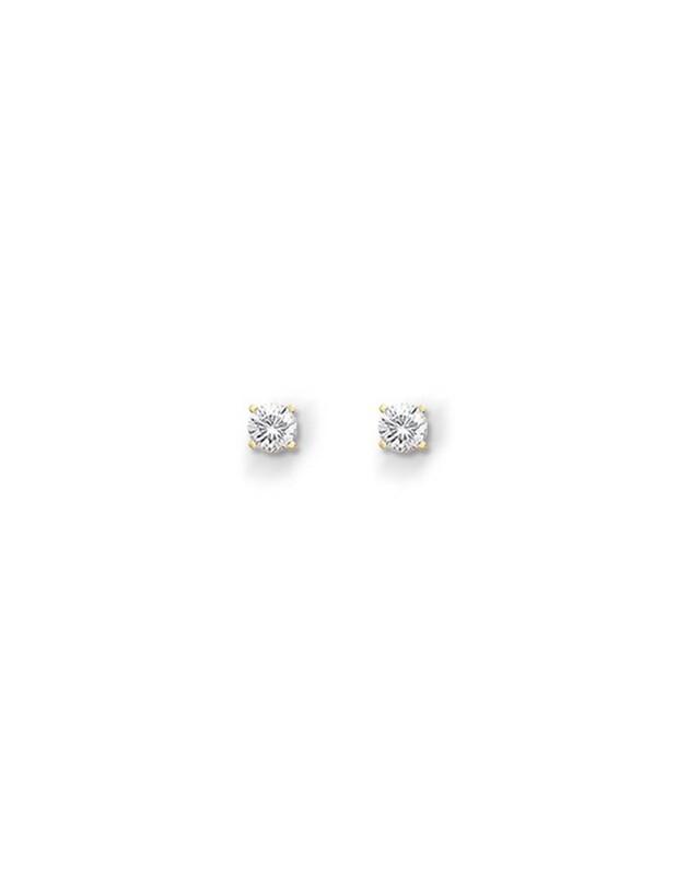 Pendientes en Oro blanco de 18 Kt, con Diamantes de 0,30 ct Cresber