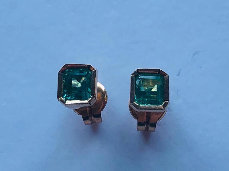 Pendientes Esmeraldas y Oro 18k