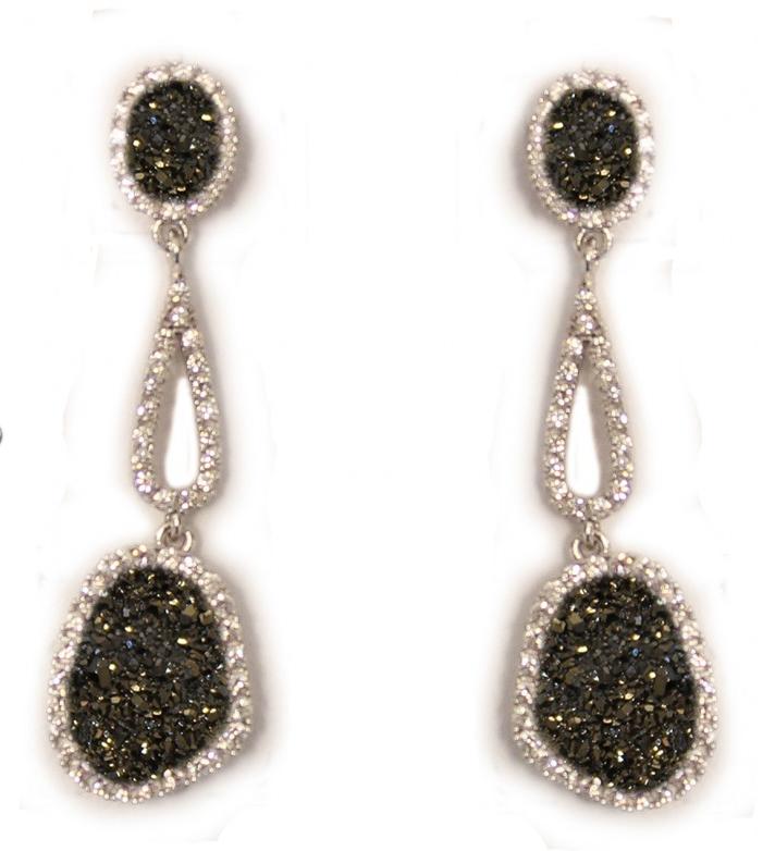 Pendientes largos de plata  0413/5 Kavak Diamonds