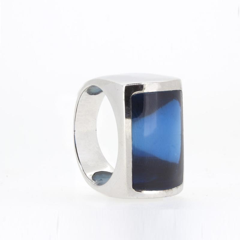 Anillo plata piedra azul 15S46A Stradda