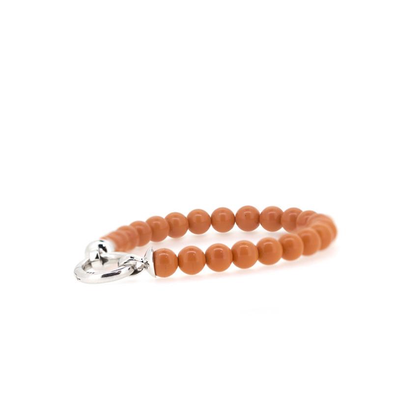 Pulsera perlas naranjas  ZIA401K Zinzi