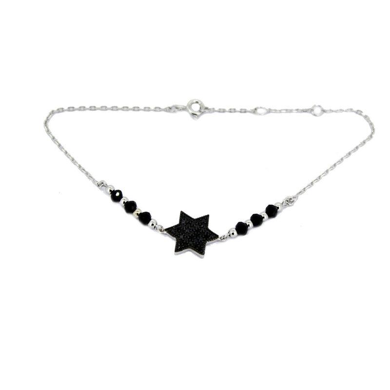 Pulsera Plata Estrella Circón 77P153K Stradda
