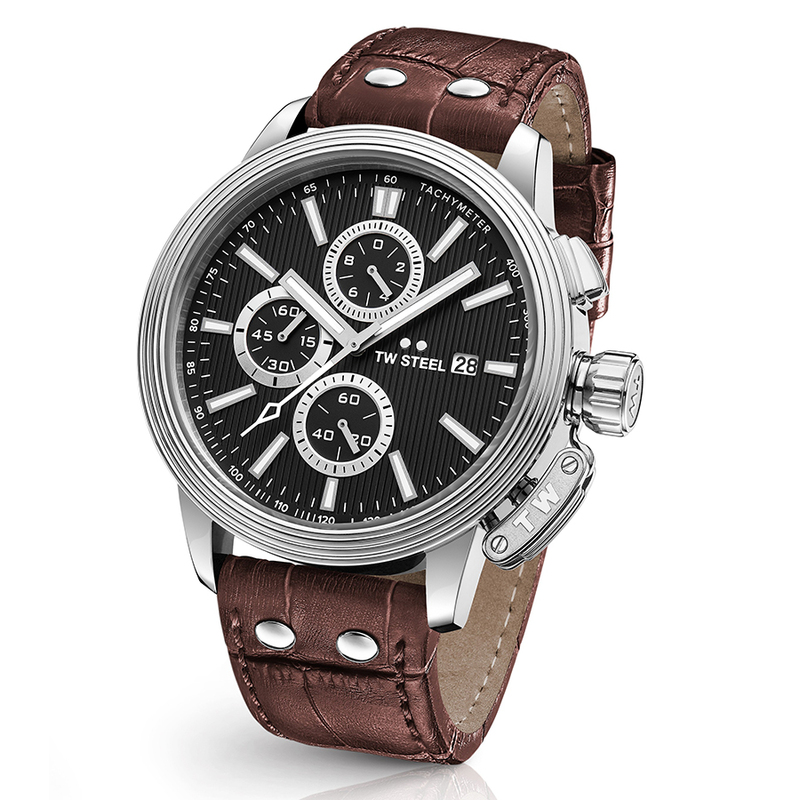Reloj 48MM CEO ADESSO ACERO CORREA MARRON. TW Steel CE7006