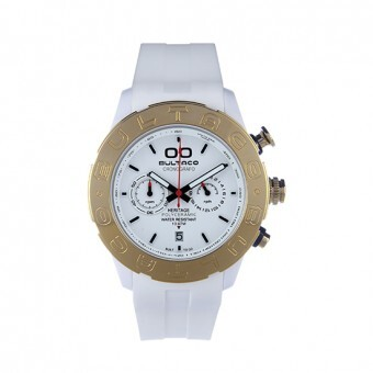 Reloj Bultaco Heritage Polycarbonate blanco crono P43CX-01