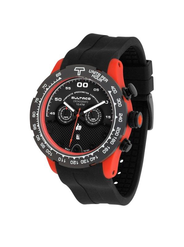 Reloj Bultaco MK1 Composite 48 Chrono Orange Black H1PO48C-SB2