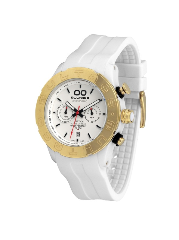 Reloj Bultaco MK1 Polyceramic 43 Chrono White Gold H1PW43C-CW2