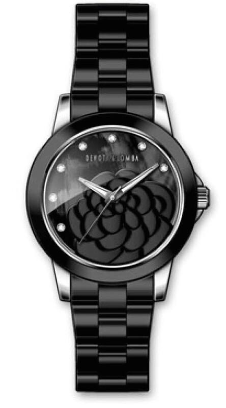 Reloj cerámica negra mujer 8435432512982 Devota & Lomba