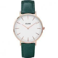 Reloj Cluse CL18038 efera blanca y correa verde