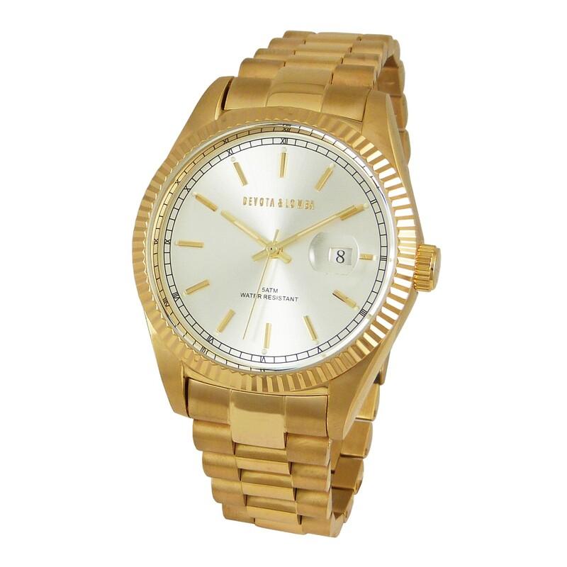 Reloj dorado hombre 8435334800149 Devota & Lomba