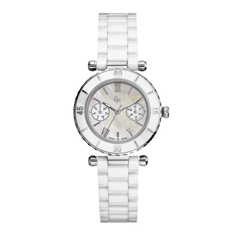 Reloj Gc mujer cerámica blanca 35003L1