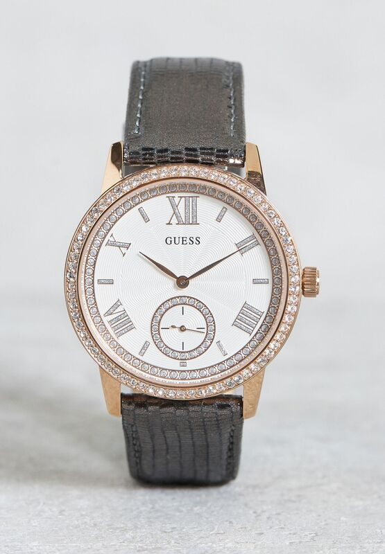 Reloj Guess mujer correa cuero chapado rose W0642L3