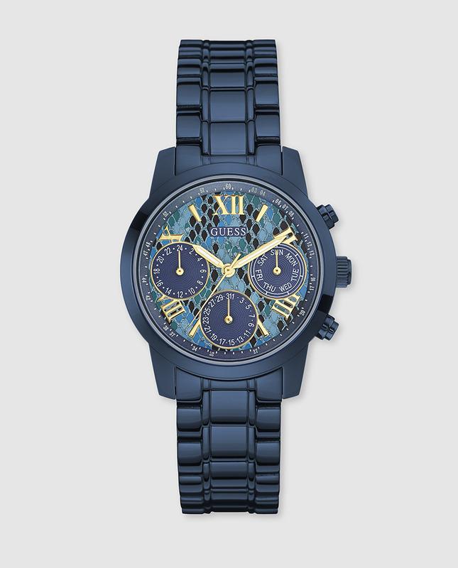 907c12e630a9 Reloj Guess mujer multifuncion azul tendencia W0448L10