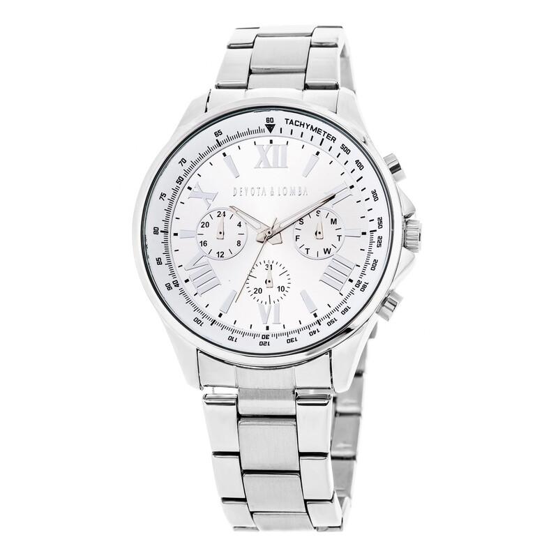 Reloj hombre plateado 8435432511817 Devota & Lomba