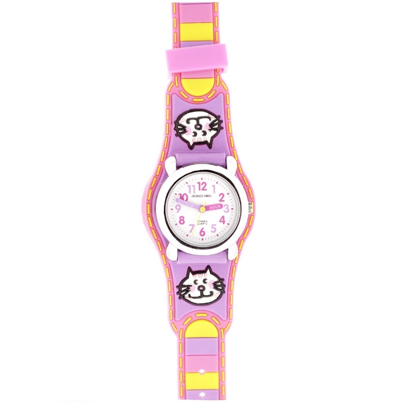 Reloj infantil gatitos JF1216 Jacques Farel