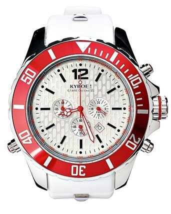 RELOJ KYBOE 48MM WHITE RED CHRONO KYC006/48MM