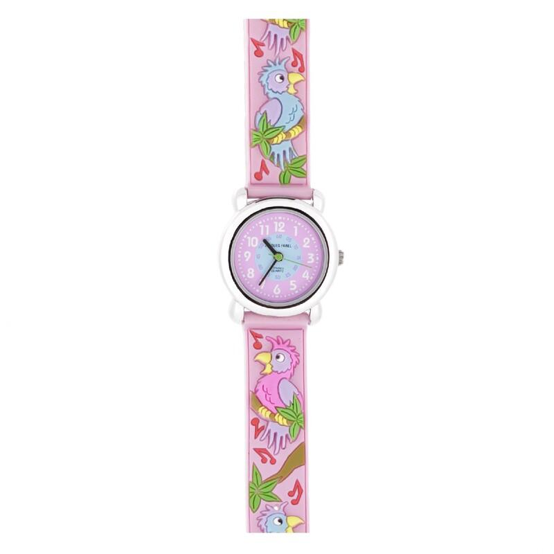 Reloj loros rosa 1223 Jacques Farel