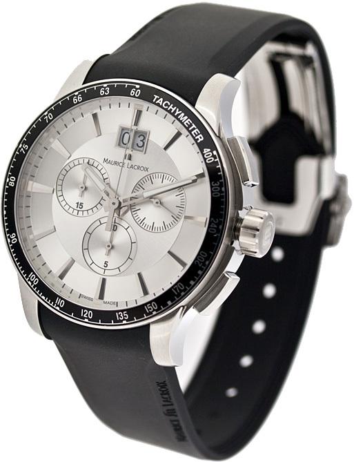 Reloj MI1098-SS041-130 analógico con correa de caucho negra Maurice Lacroix