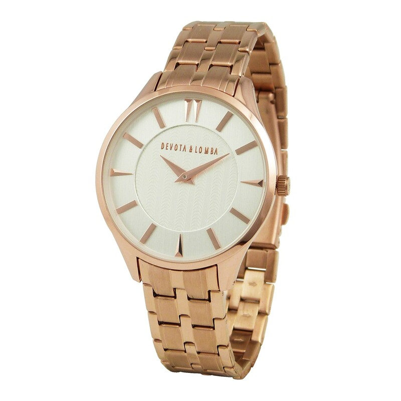 Reloj oro rosa hombre 8435334800101 Devota & Lomba