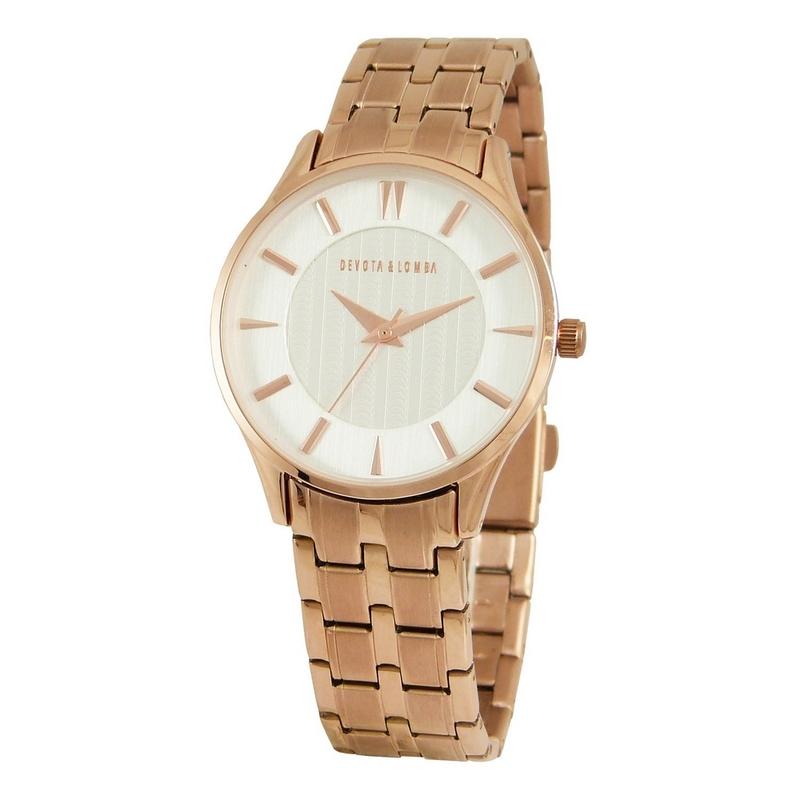 Reloj oro rosa mujer 8435334800064 Devota & Lomba