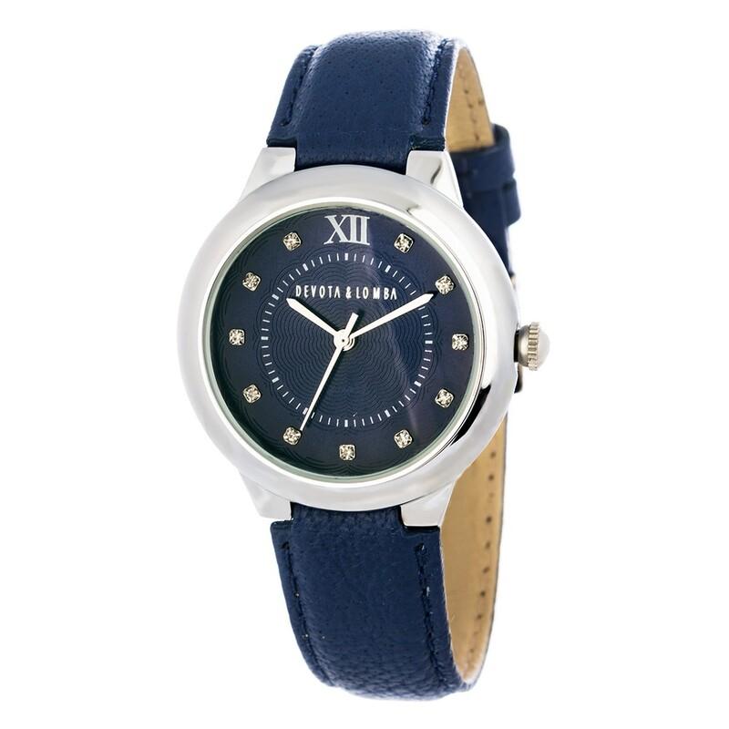 Reloj piel azul mujer 8435432512050 Devota & Lomba