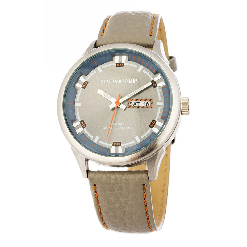 Reloj piel hombre, esfera gris 8435432512289 Devota & Lomba