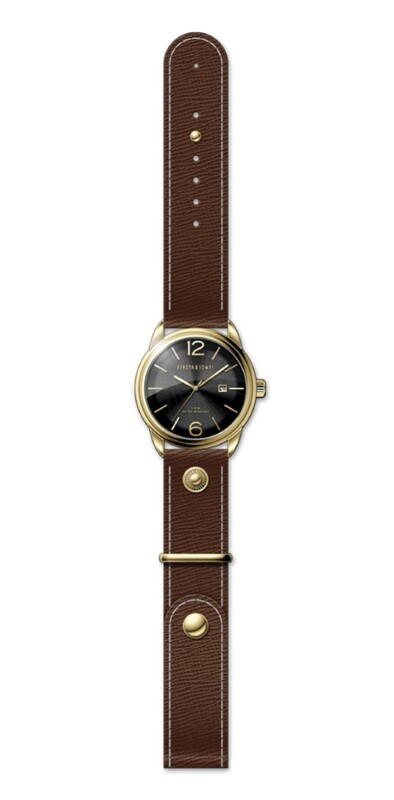 Reloj piel hombre, esfera negra 8435432512197 Devota & Lomba