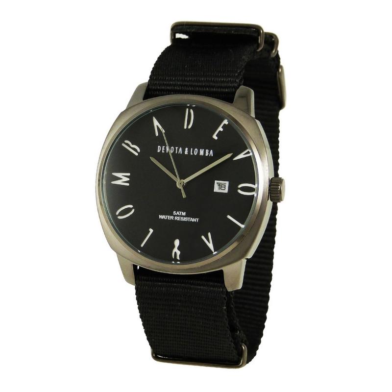 Reloj piel hombre, esfera negra 8435432513088 Devota & Lomba