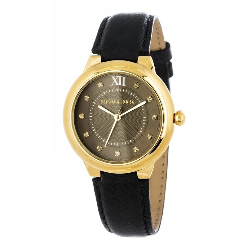 Reloj piel negra mujer 8435432512074 Devota & Lomba
