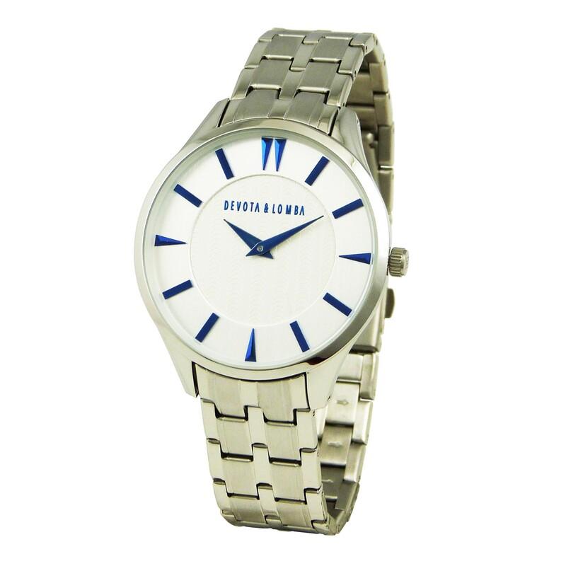 Reloj plateado hombre 8435334800071 Devota & Lomba