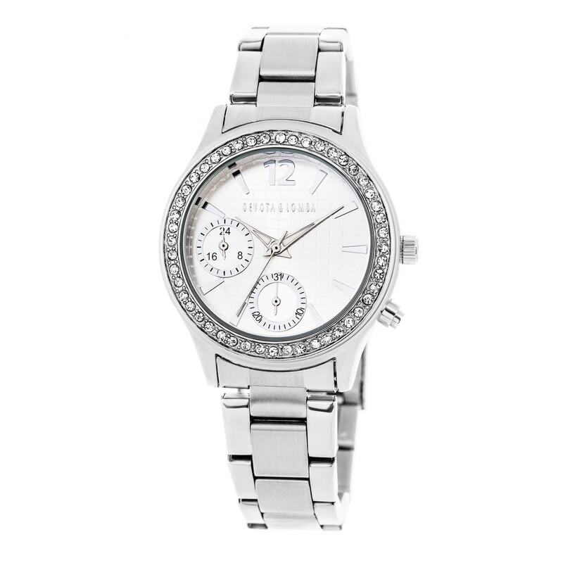 Reloj plateado mujer 8435432511541 Devota & Lomba