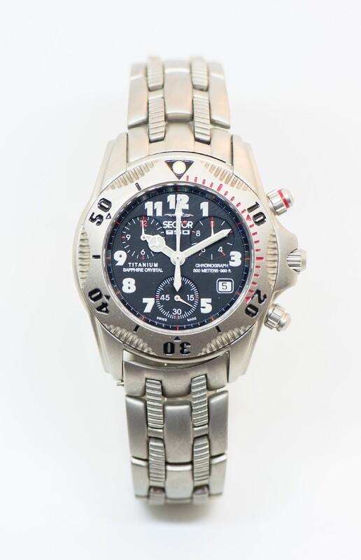 Reloj Pulsera Deportivo caja y brazalete titanio. Cronómetro 2653995155 Sector