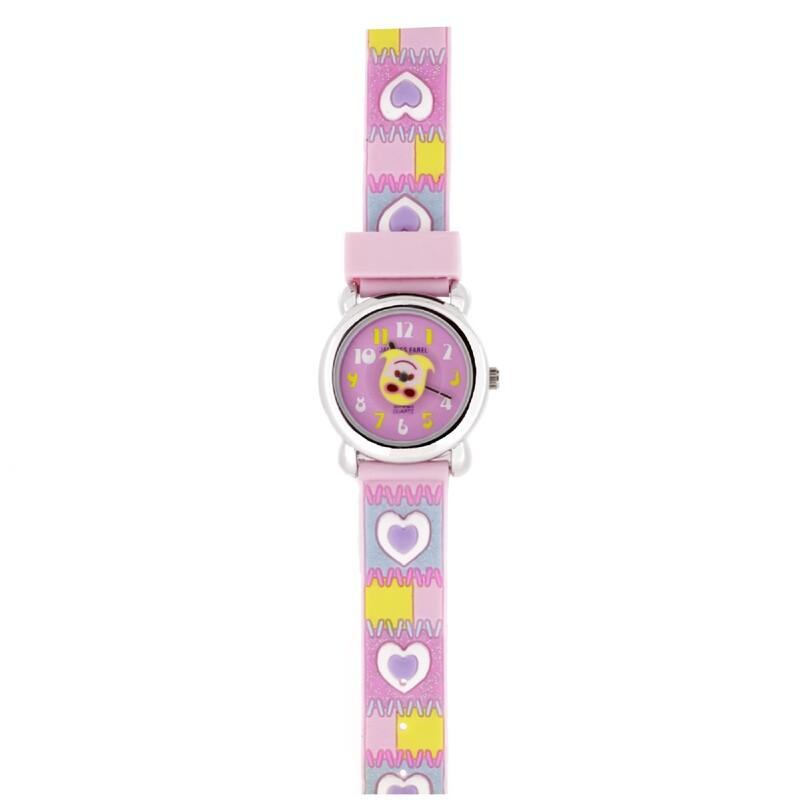 Reloj rosa corazones  JF1220 Jacques Farel