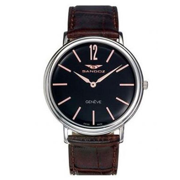reloj sandoz caballero correa piel 81363-55